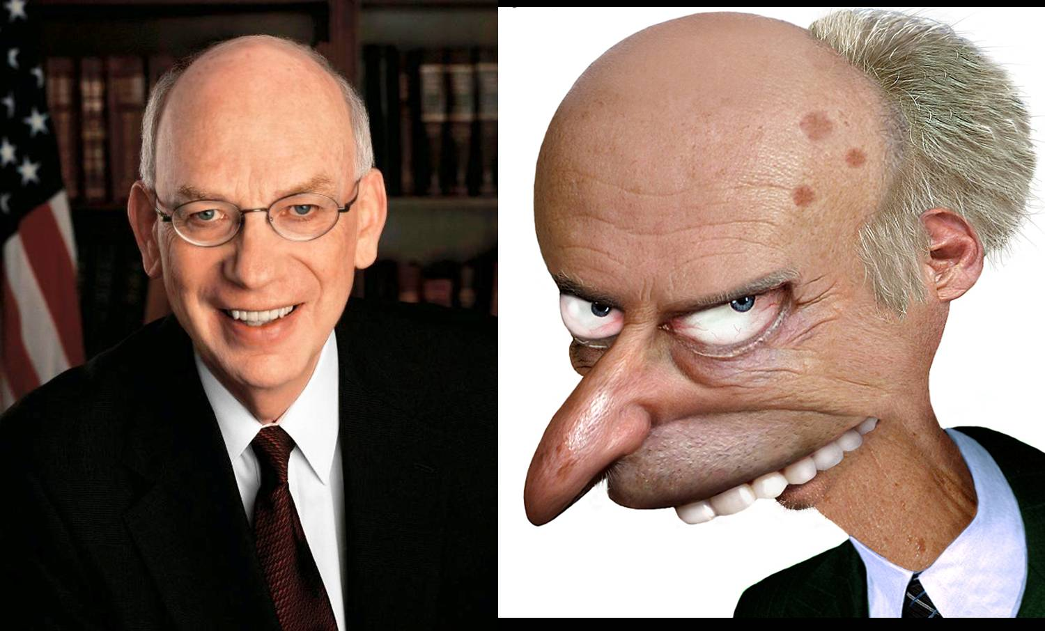 Sen. Bennett (R- UT) and Fictional Supervillain / Nuclear Power enthusiast C. Montgomery Burns