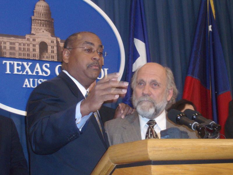 "Public Citizen Director Tom ""Smitty"" Smith and Senator Rodney Ellis"
