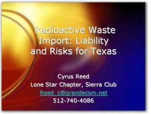 Cyrus Reed Webinar Presentation