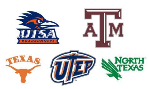 UTSA, TAMU, UT-Austin, UT-El Paso, and North Texas