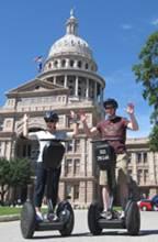 Austin capitol segway tourists