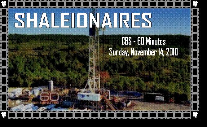 60 Minutes Segment on Fracking
