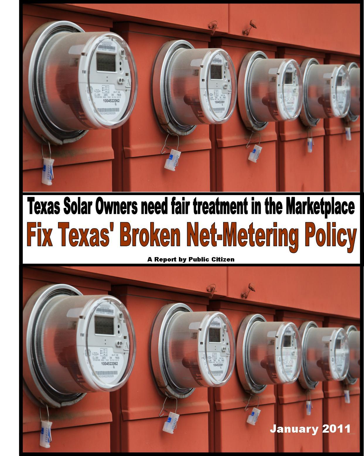 Texas Net-Metering Report