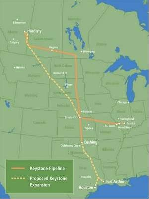 Keystone Pipeline Route