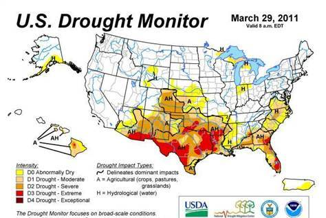 March 29, 2011 Drought Monitor Map
