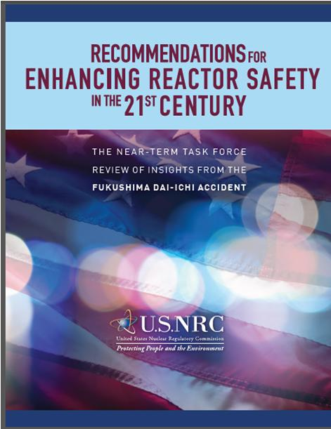 NRC Japan Task Force Report Cover