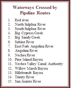 Tar Sands Pipeline Affected Texas Waterways