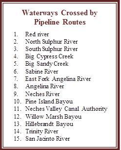 Tar Sands Pipeline Affected Texas Waterways