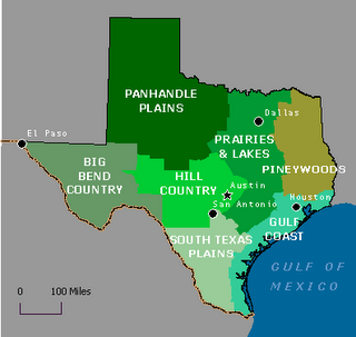 Map of Texas' Eco Regions