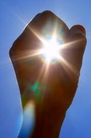 Sun-in-fist