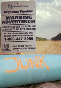 Junk pipe with sign