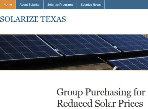 Solarize Texas website