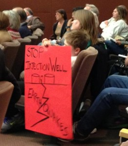 Young witness at RRC Hearing on Seismic Activity in North Texas - Photo by Sierra Club