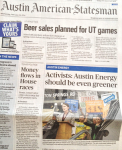 2014-02-26-Front-Page-Austin American-Statesman