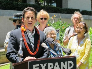 Senator Brian Schatz will lead the Talkathon  Photo by Audrey McAvoy, AP