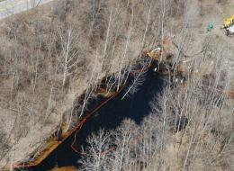 2014 Mid Valley Oil Spill in Michigan Nature Preserve - Photo from Huffington Post.jpg