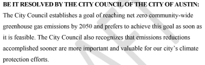 Austin Climate Protection Plan Resolution