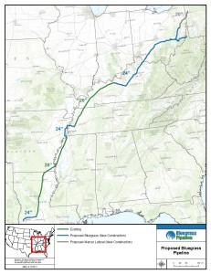2013-091-31 Bluegrass Pipeline - map of proposed route