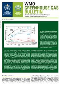 WMO GH Gas Bulletin Cover