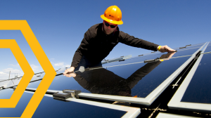 Solar Worker (small) - photo from Solar Foundation