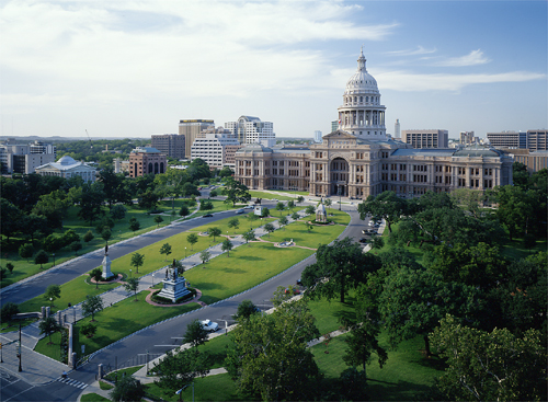 Texas Capitol South Grounds - photo from State Preservation Board