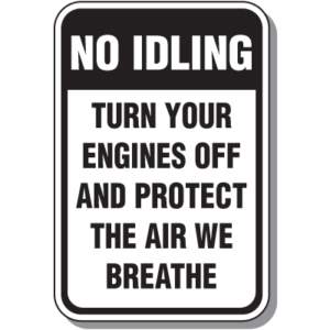 No Idling Sign photo from Seton