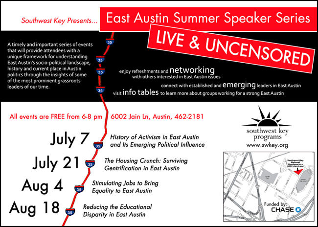East Austin Summer Speaker Series
