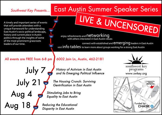 East Austin Summer Speaker Series