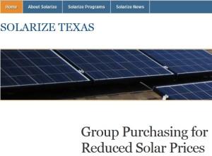 Solarize Texas website