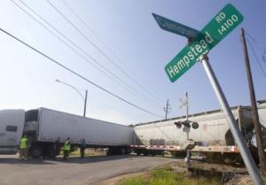 Rail Tain wreck - Houston TX