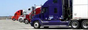 Trucks idling -